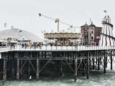 Brighton Palace Pier  |  Pierhead with amusement park