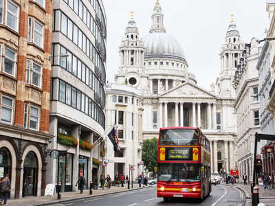 London  |  Ludgate Hill with St. Paul's Cathedral