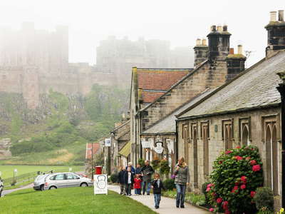 Bamburgh with Castle