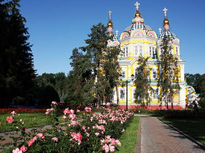 Almaty  |  Panfilov Park with Ascension Cathedral
