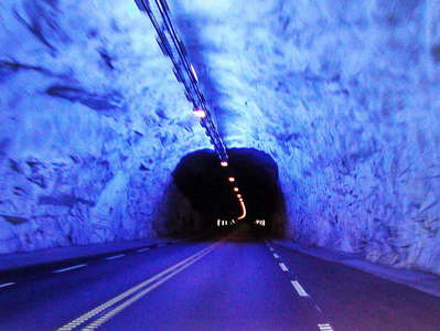 Lærdal Tunnel  |  Blue cave