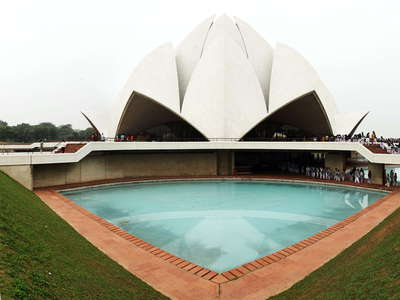Delhi  |  Panorama of Lotus Temple