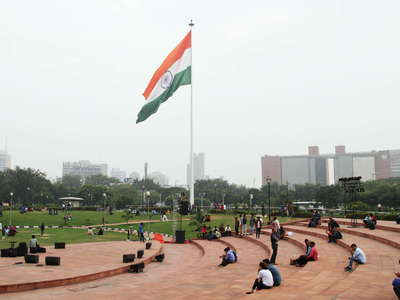 New Delhi  |  Central Park with Flag of India