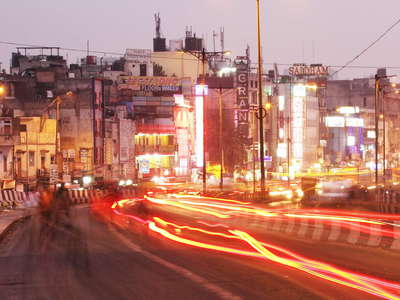 Delhi  |  Paharganj at night
