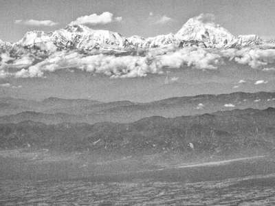 Himalaya with Mt. Everest and Makalu
