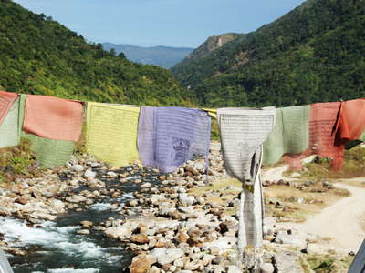 Dudhia  |  Balason River and prayer flags