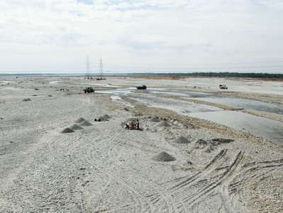 Gish River  |  Floodplain with sediment mining