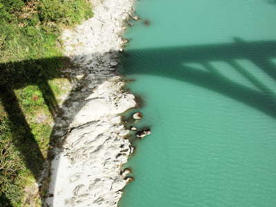 Sevoke  |  Teesta River with shadow of Coronation Bridge