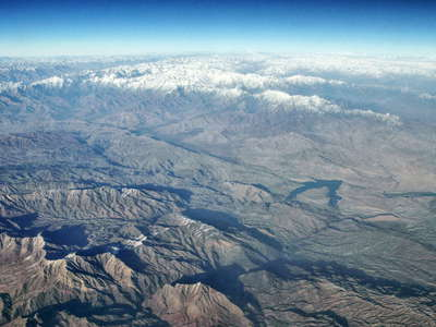 Afghanistan  |  Naghlo Reservoir with Hindukush