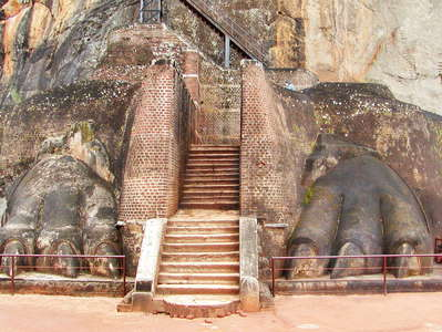 Sigiriya  |  Rock sculpture