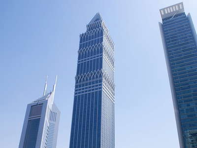 Dubai  |  Skyscrapers along Sheikh Zayed Road