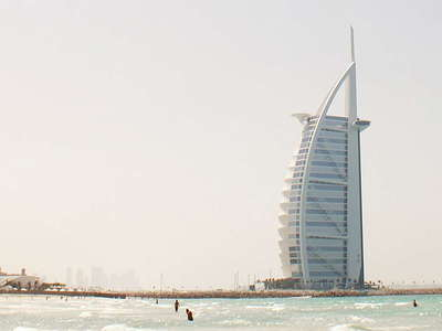 Dubai  |  Jumeirah Beach Hotel and Burj Al Arab