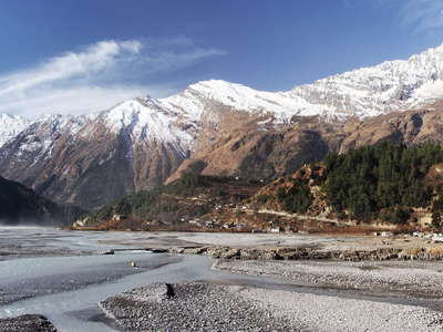 Kali Gandaki Valley and Dhaulagiri northeast face