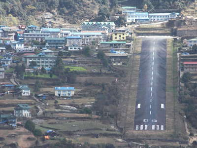 Lukla with airstrip