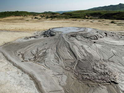 Pâclele Mici  |  Mud volcano with outflow