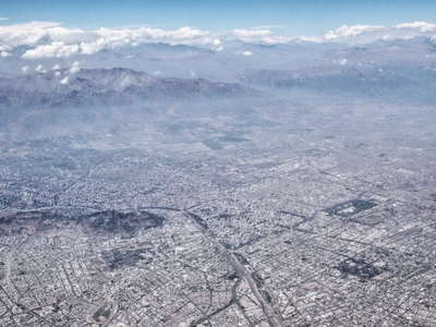 Santigo de Chile from the air