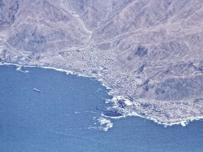 Tocopilla from the air
