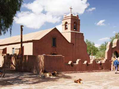 San Pedro de Atacama  |  Plaza with church