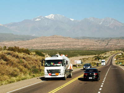 Mendoza  |  Highway 7 with Cordillera Frontal