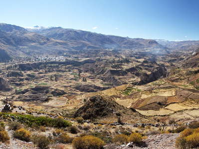 Valle del Colca  |  Panoramic view with Madrigal