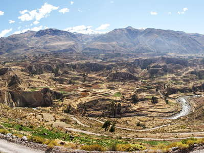 Valle del Colca  |  Panoramic view with terraced farmland