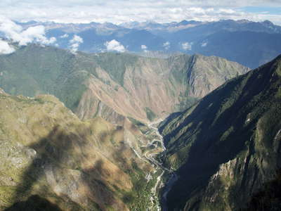 Urubamba Valley with Central Hidroeléctrica