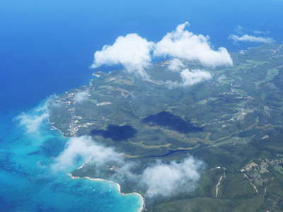 Lesser Antilles from the air