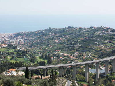Sanremo and A10 Motorway bridge