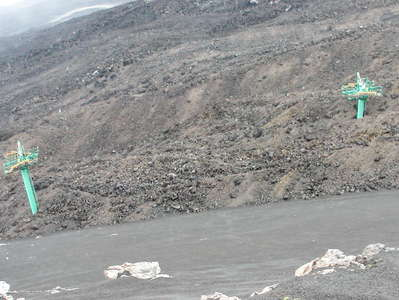 Etna | Destroyed cable car