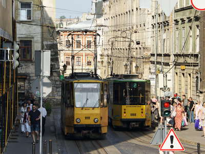 Lviv | Ruska Street with tramways