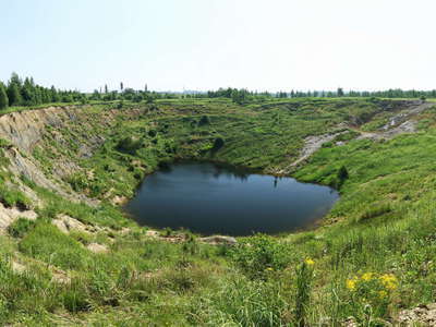 Stebnyk | Panorama of sinkhole
