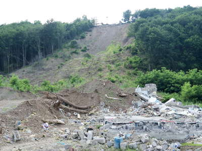 Kolchyno | Landslide with destroyed house