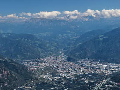 Bozen with Etschtal and Dolomites