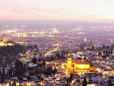 Granada after sunset