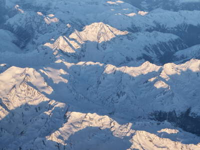 Martell Valley and Ortler Mountains
